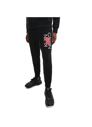 Calvin Klein  % 100 Pamuklu Slim Fit Eşofman Altı Erkek Eşofman Altı K10K107268 Beh Siyah